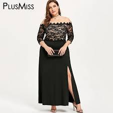 <b>PlusMiss Plus Size 5XL</b> XXXXL XXXL Sexy Mesh Off Shoulder Lace ...
