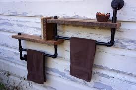 pallet and metal pipes towel rack antique unique pallet ideas