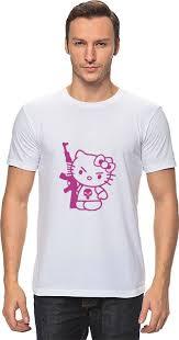 <b>Футболка</b> классическая <b>Printio</b> Hello Kitty AK-47 #713464