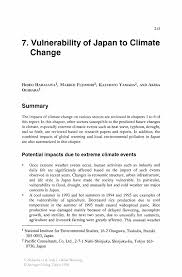 vulnerability of to climate change springer global warming global warming