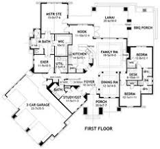 ideas about Tuscan House Plans on Pinterest   Tuscan House    First Floor Plan of Cottage Country Craftsman European Hillside Ranch House