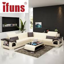 ifuns wholesale sectional sofas l shape corner black quality leather black modern design sofa set living room furniture fr a01 1 modern furniture wood design