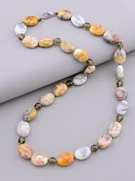 <b>Бусы</b> из натурального камня Яшма,<b>Раухтопаз 47 см</b>, цена 423.30 ...