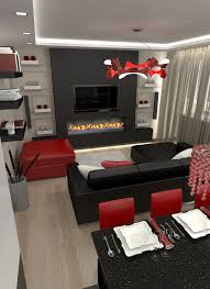 user community living room with a kitchen black white red white living room desing red brilliant red living room furniture