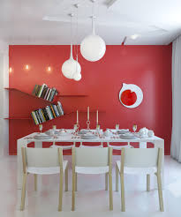 Red Dining Room Sets Room Table Lighting Red White Dining Room Modern Light Fixture