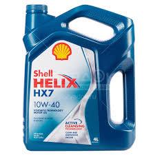 <b>Масло моторное полусинтетическое 10W40</b> Shell Helix НХ7, 4 л ...