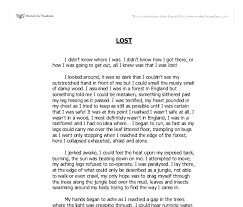 lost descriptive writing   gcse english   marked by teacherscom document image preview
