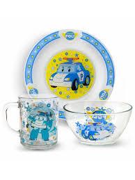 """Набор посуды """"Робокар Поли"""" Поли, (<b>3</b> предмета) НД Плэй ..."""
