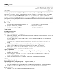 professional machine shop foreman templates to showcase your resume templates machine shop foreman