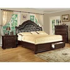 furniture of america lauretta english style 3 piece brown cherry platform bedroom set cal king alibaba furniture