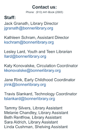 bonner springs city library frequently asked questions middot library board