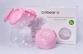 2020 <b>Cmbear Double Electric</b> Breast Pump Powerful Suction ...