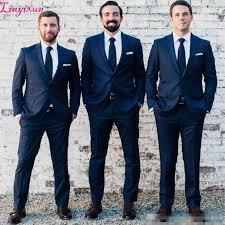 Linyixun <b>Custom Made Navy</b> BlueMen Suit Best men Groom <b>Navy</b> ...