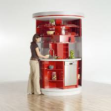 Small Space Kitchen Appliances Amazing Modern Round Space Saving Kitchen Design For Small Multi