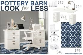 pottery barn bedford rectangular office desk knockoff bedford shaped office desk