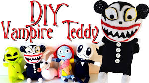 DIY <b>Scary</b> Vampire Teddy Sock Plushie with Free <b>Pattern</b>! The ...