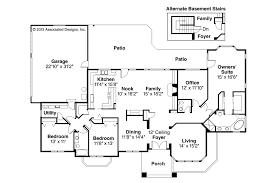 Southwest House Plans   Lantana     Associated DesignsSouthwest House Plan   Lantana     Floor Plan