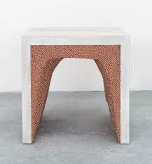 white cement and copper bb side table by fernando mastrangelo 3 browse cement furniture