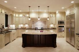 Concrete Floor Kitchen U Shaped Kitchen Designs With Breakfast Bar Grey Concrete Floor