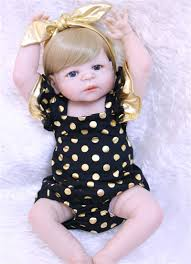 <b>55cm Full Body Silicone</b> Reborn Baby Doll Toys fake baby reborn ...