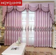 high quality custom european luxury blackout embroidered curtains for living room classic high end villa bedroom