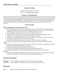 update qualifications summary resume examples documents examples of skills on resume summary of qualifications and