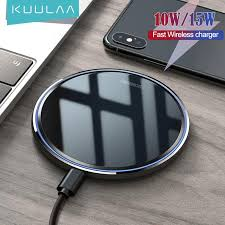 <b>KUULAA</b> 10W <b>Qi Wireless Charger</b> For iPhone 11 12 Pro X/XS Max ...