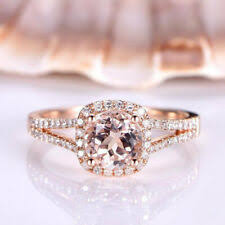 Morganite Rose <b>Gold 10k</b> Engagement Rings for sale | eBay