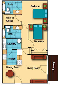 Apartments   Bedroom Floor Plan Bay Apartments By Bay Residence - Two bedroomed house plans