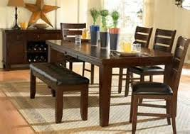 dining rooms booth style room sets dark oak finish birch veneer dining set with cushioned chairs amazing dark oak dining