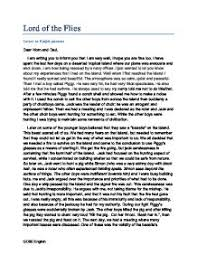 lord of the flies   letter from ralph   gcse english   marked by    page