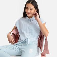<b>Рубашка</b> в <b>полоску</b> без рукавов 10-16 лет в <b>полоску La Redoute</b> ...