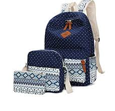 WKBY <b>Women Backpack</b> Canvas School Bag For <b>Girls Teenagers</b> ...