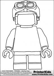 Small Picture Blank Lego Minifigure Coloring Page Periodic Tables