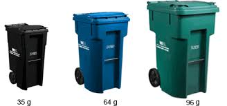 trash cans default: otherwise you will receive the cart sizes included in the default service of  g garbage cart  g or  g recyclables cart