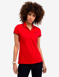 STRETCH SMALL LOGO TIPPED POLO SHIRT - <b>U.S. Polo</b> Assn.
