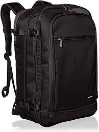AmazonBasics Carry-On Travel Backpack - Black ... - Amazon.com