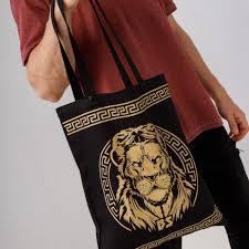 <b>Сумка</b>-<b>шоппер</b> унисекс GOLD LION | Black Star Wear Latvia