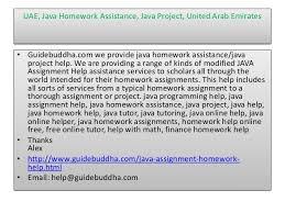 Uae java assignment help  Java tutoring online  java tutors online  o    SlideShare     help guidebuddha com     UAE  Java Homework
