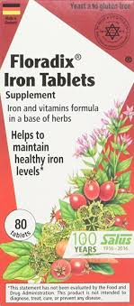 Buy Flora Inc <b>Floradix Iron Tablets</b> 80 tablets Online at Low Prices in ...