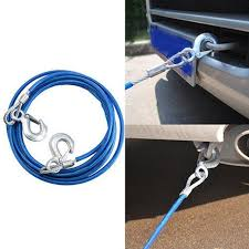 wupp 4M 5Tons Car Tow Cable Towing Strap Rope with Hooks ...