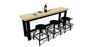 Bar table, <b>bar chairs</b> and dishes <b>2</b>   3D Warehouse