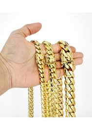 Heavy Solid Gold Miami Cuban Link Chain Customizable (10MM ...