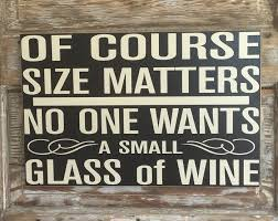 wood sign glass decor wooden kitchen wall: no one wants a small glass of wine wood sign