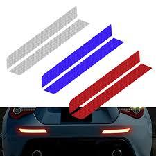 <b>2PCS</b> Warning Strip <b>Reflective</b> Tape Car Safety Bumper Reflector ...