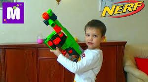 НЕРФ <b>Бластер</b> Зомби Страйк распаковка игрушечного оружия ...