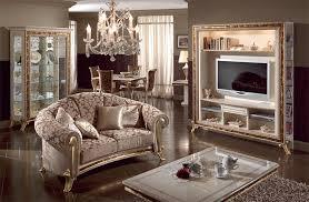 Porta Tv Da Camera Da Letto : Porta tv di lusso laccato bianco perla decori in oro idfdesign