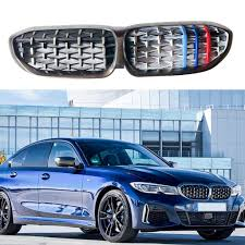 <b>3D Sport</b> M <b>Style</b> Grille Grill Cover Clip Trim Decor Car For BMW ...