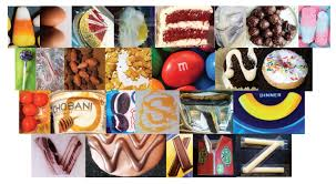 found fonts creating an alphabet from food parsons design 3 by student lisa hultengren