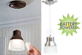 image of wireless hanging pendant lights battery operated home lighting